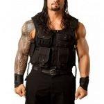 WWE Roman Reigns Black Leather Vest
