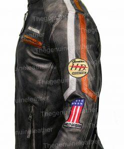Harley Davidson Distressed Black Jacket