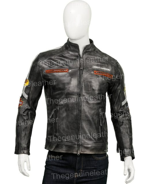 Harley Davidson Distressed Leather Jacket