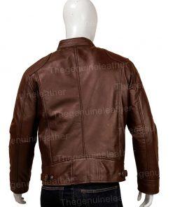 Men Brown Leather Jacket