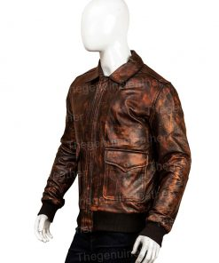Mens Distressed Brown Jacket