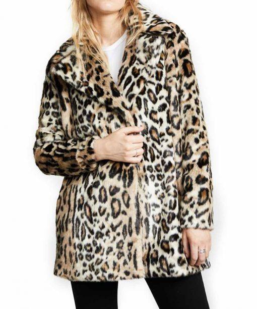 Yellowstone Beth Dutton Cheetah Brown Print Coat