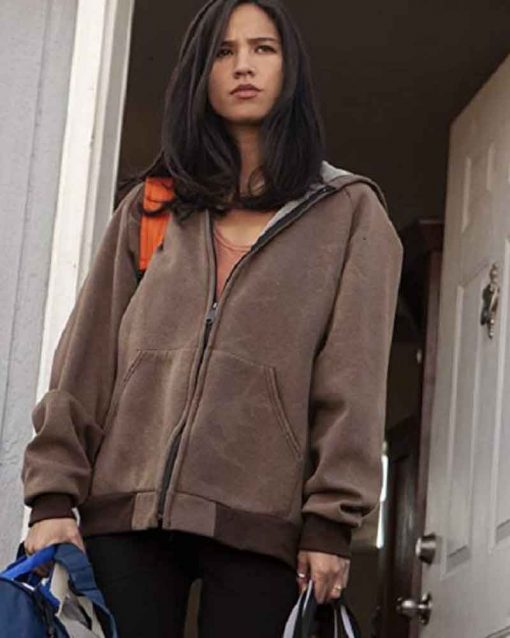 Yellowstone Monica Dutton Brown Hooded Jacket