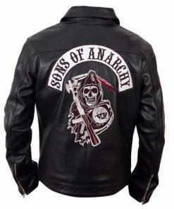 Sons Of Anarchy Black Biker Leather Jacket