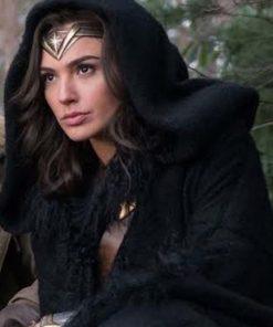 Wonder Woman Black Shearling Coat