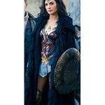 Wonder Woman Diana Prince Shearling Coat
