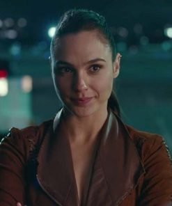 Wonder Woman Justice League Brown Suede Jacket