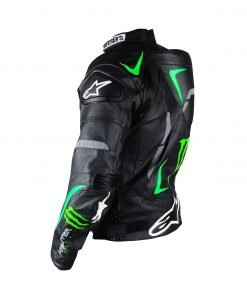 Alpinestars Hellhound Monster Energy Biker Black Leather Jacket