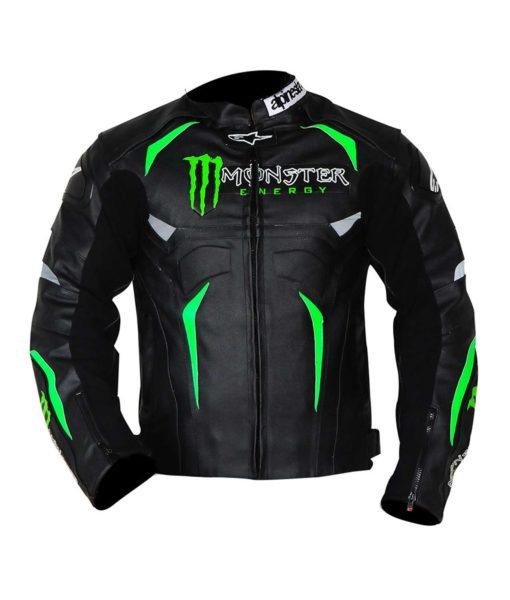 Alpinestars Hellhound Monster Energy Biker Leather Jacket