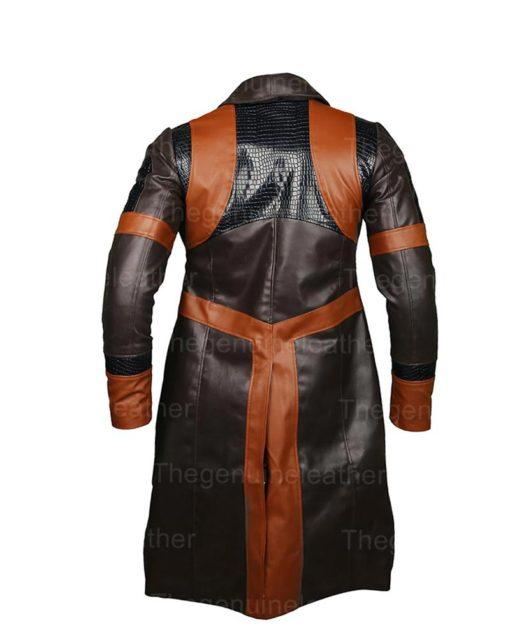 Gamora Guardians Of The Galaxy Brown Long Coat