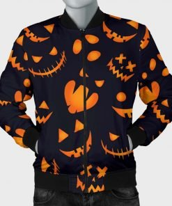 Halloween Pumpkins Pattern Bomber Jacket
