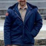 Jim Hopper Stranger Things Blue Hooded Jacket