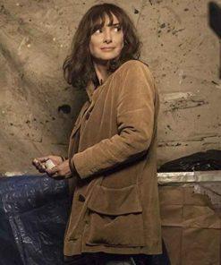 Joyce Byers Stranger Things Brown Corduroy Coat