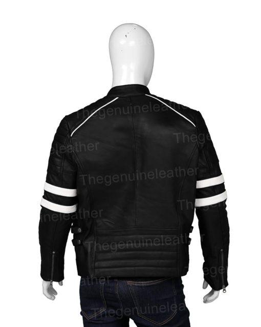 Mens Cafe Racer Retro Leather Jacket