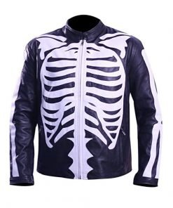 Halloween Skeleton Leather Jacket