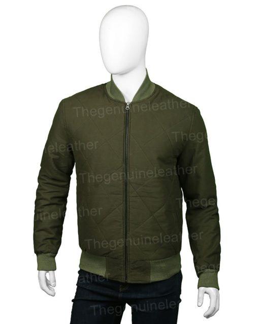 The Flash Nash Wells Green Bomber Jacket