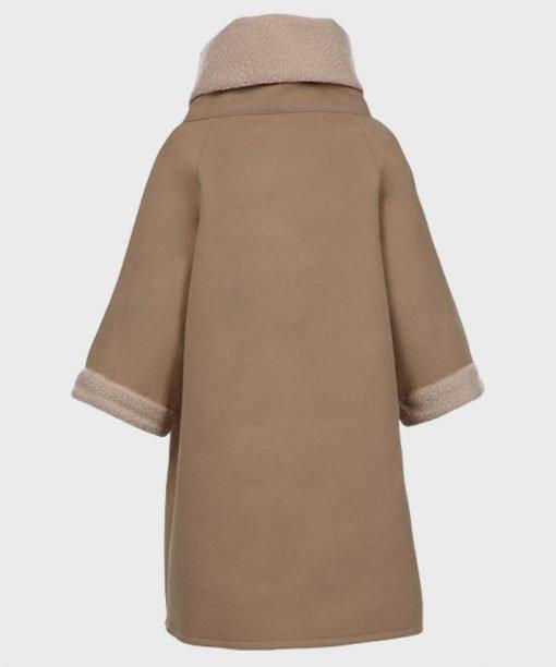 The Mandalorian Baby Yoda Brown Trench Coat
