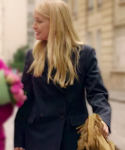Camille Razat Emily in Paris Black Coat