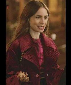 Emily Cooper Emily In Paris Maroon Jacket