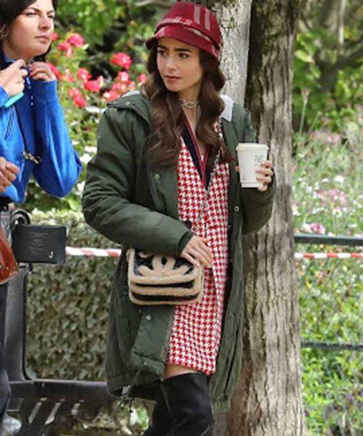Emily Cooper Emily in Paris Green Hooded Coat