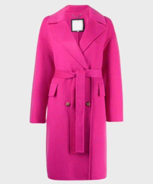 Emily in Paris Emily Cooper Pink Trench Coat