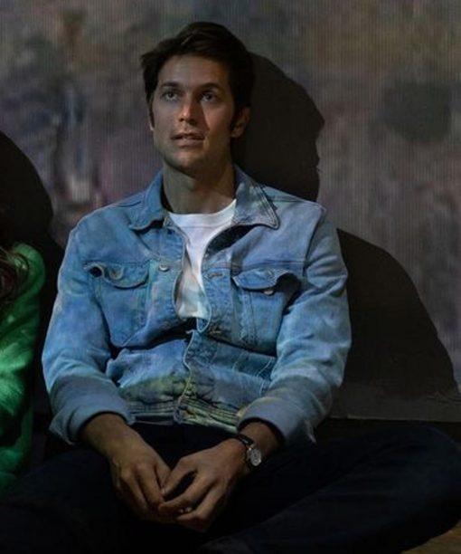 Emily in Paris Gabriel Blue Denim Jacket