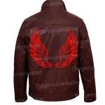 Mens Halloween Wings Leather Jacket