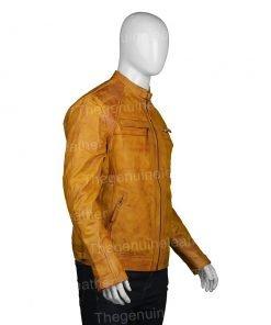 Mens Waxed Shoulder Brown Jacket