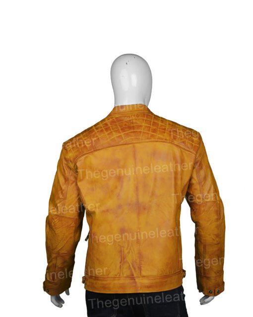 Mens Waxed Shoulder Leather Jacket