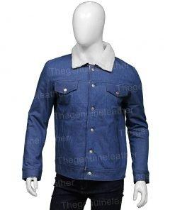 Tell Me Why Tyler Ronan Shearling Denim Jacket