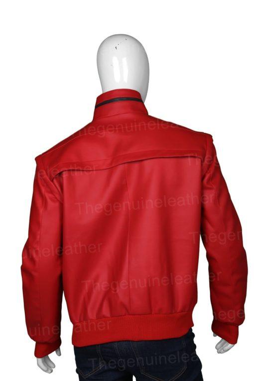Cobra Kai Johnny Lawrence Red Leather Jacket