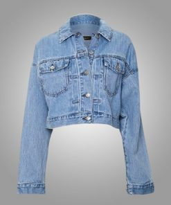 Emily In Paris Camille Razat Blue Cropped Jacket