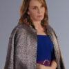 Emily In Paris Sylvie Shiny Grey Coat
