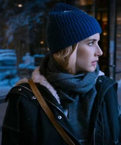 Emma Roberts Holidate Shearling Jacket