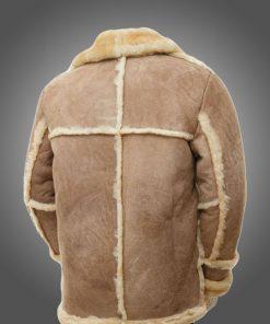 Mens Brown Sheepskin Leather Fur Coat
