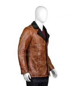 Mens-Distressed-Brown-Coat