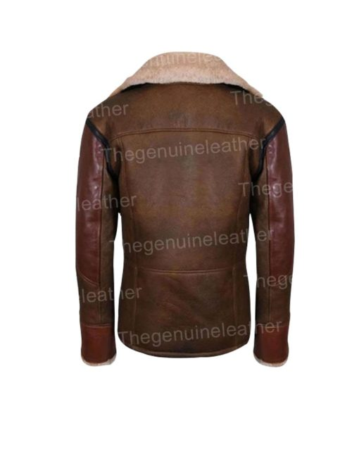 Mens Leather Shearling Jacket