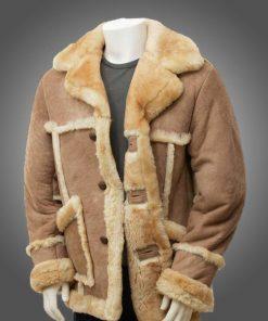 Mens Sheepskin Leather Fur Coat