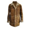 Mens Vintage Brown Leather Coat