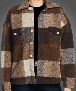 Sloane Holidate Brown Plaid Jacket