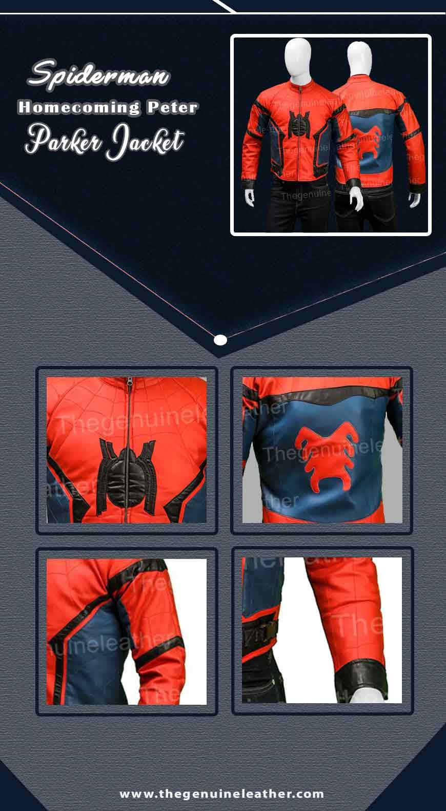 Spiderman Homecoming Peter Parker Jacket