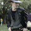 The Queens Gambit Benny Watts Black Leather Trench Coat