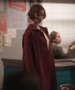 The Queen's Gambit Beth Harmon Red Coat