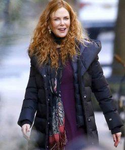 The Undoing Nicole Kidman Black Puffer Coat