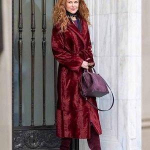 The Undoing Nicole Kidman Maroon Velvet Coat
