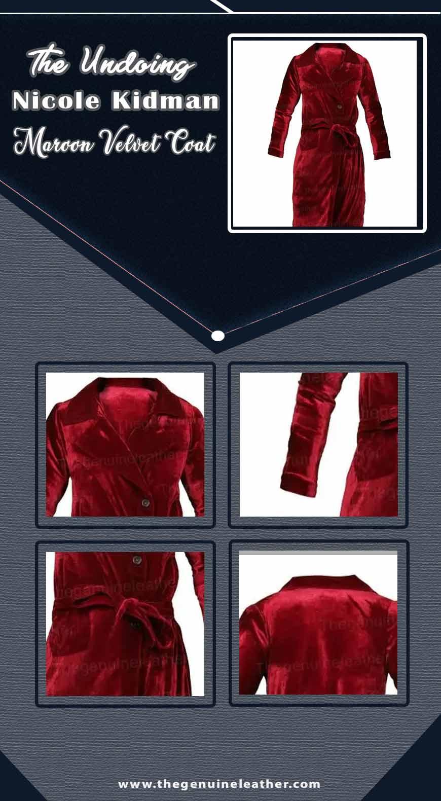 The Undoing Nicole Kidman Maroon Velvet Coat info