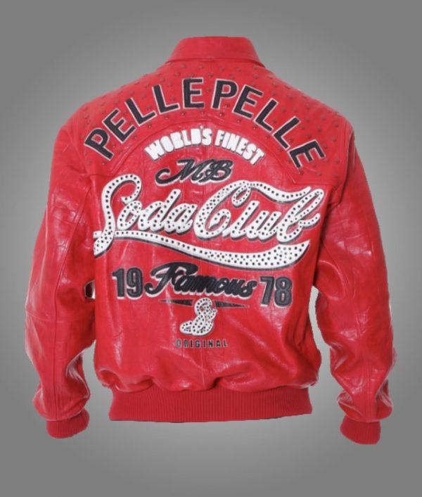 Soda Club Pelle Pelle Red Leather Jacket