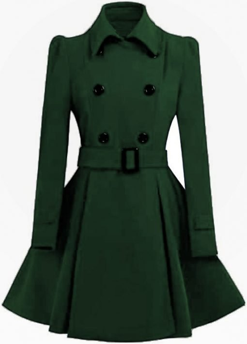 Womens Green Swing Pea Coat