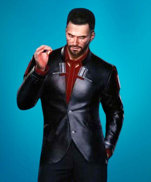 Cyberpunk 2077 V Black Leather Blazer