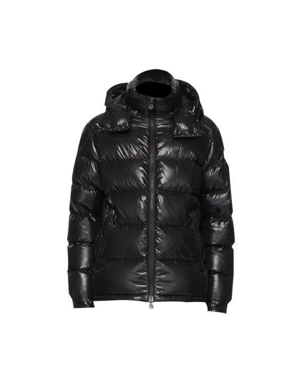 Mens Puffer Black Long Coat